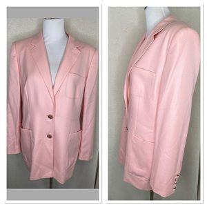 Escada pink cashmere blazer